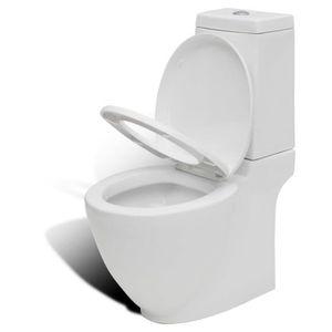 CUVETTE WC SEULE Cuvette WC Toilettes carré blanche en céramique De