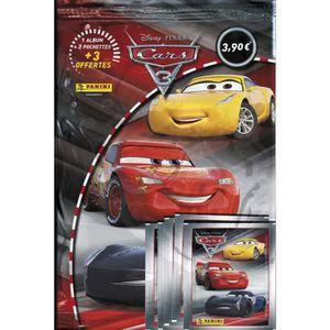 JEU DE STICKERS PANINI Album + 5 pochettes de 5 stickers Cars 3
