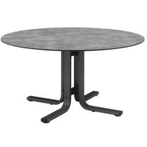 Salon de jardin aluminium table ronde - Achat / Vente pas cher