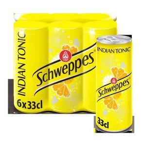 Apéritif sans alcool SCHWEPPES Packde 6 canettes de Boissons gazeuses I