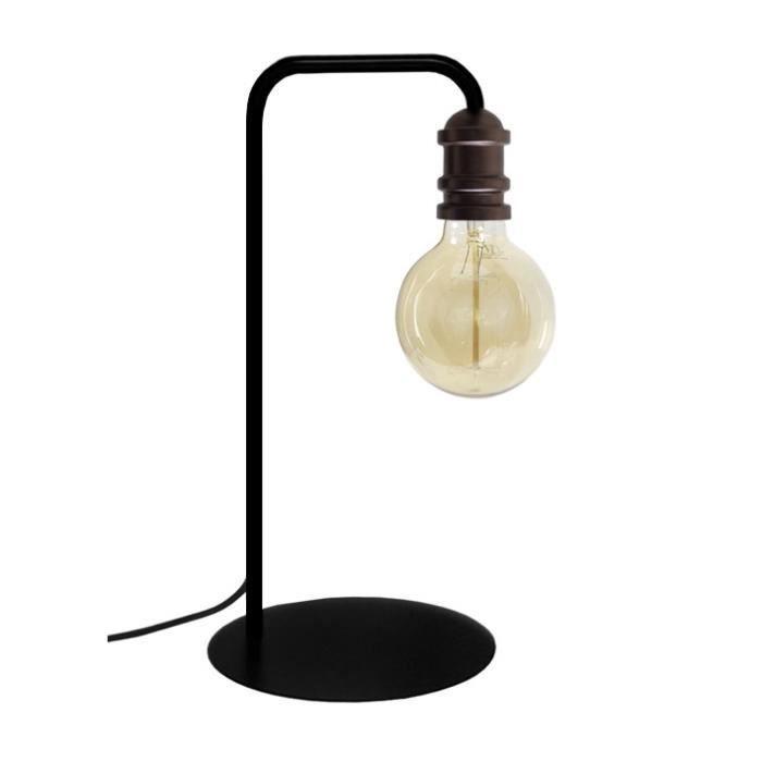 Lampe à poser Norwich pour ampoule décorative - Noir / Bronze - E27 40W