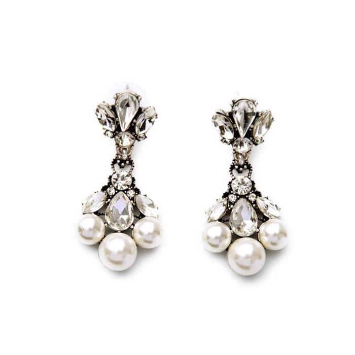 boucles d'oreilles aquilo perles pour femmes pour et Q5644