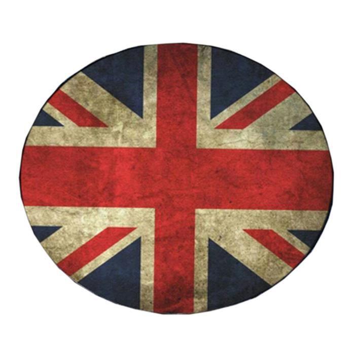 Tapis retro drapeau de l 39 angleterre chambre mat cercle tapis rond de 60 60cm achat vente - Drapeau de l angleterre a colorier ...