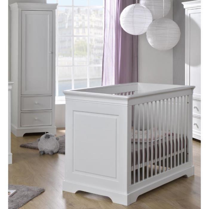 Chambre bébé Mel : lit 60x120 + armoire 1 porte - Achat / Vente ...
