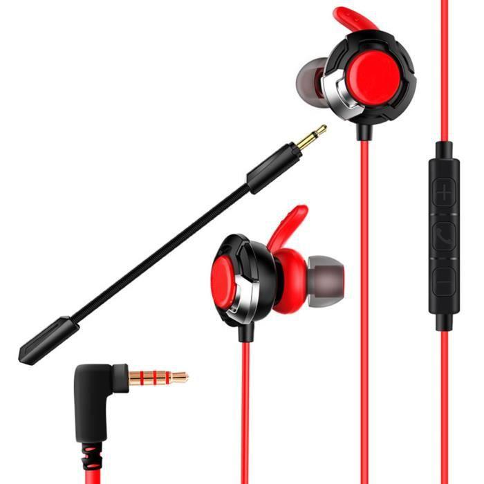 Ototon® Ecouteurs De Jeu Gaming Filaires Avec Micro Ajustable Pour Ps4 Xbox Ordinateur Portable Téléphone