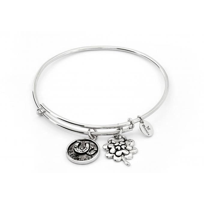 bracelet chrysalis je pense a toi crbt0722sp - bracelet bonne chance femme