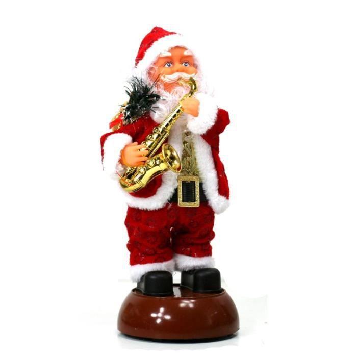 PERSONNAGES ET ANIMAUX Automate Père Noel Musical Lumineux