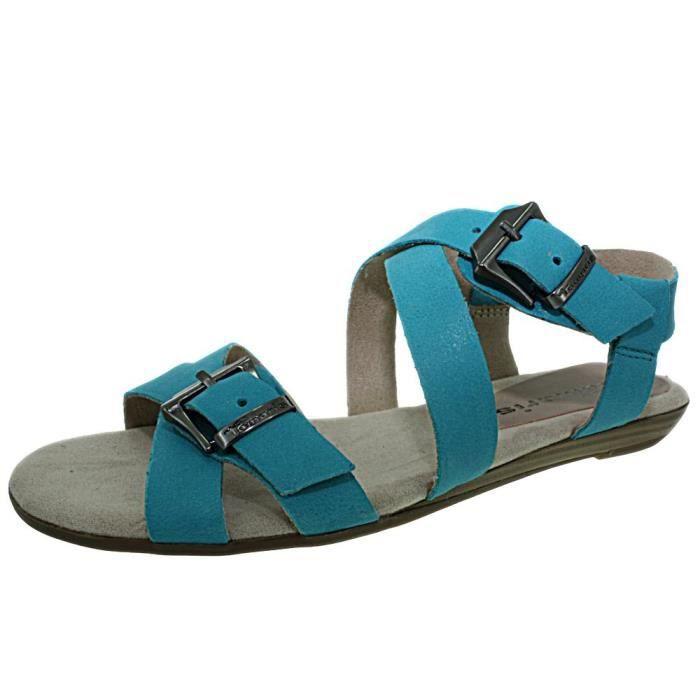 Bleu 28184 Turquoise Tamaris Pieds Nus Turquoise Chaussure zpg06qUa