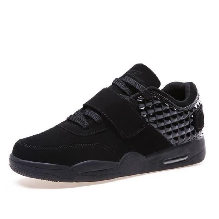 Hommes chaussures haut Top Casual rouge Suede c... QcCDeoqyj