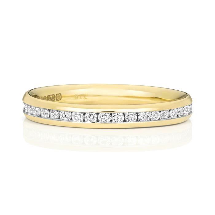 Bague de Mariage-Alliance Femme Eternité 2,7mm Or 375-1000 et Diamant Brillant 0.44 Carat GH - SI3-I1 31117