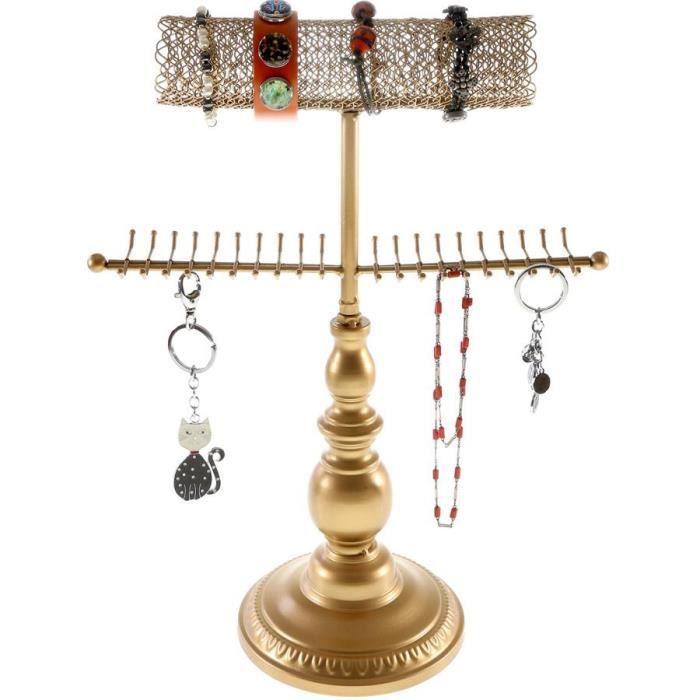 Présentoir bijoux mixte avec r - Doré
