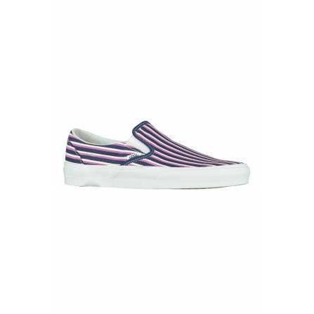 Baskets Classic Slip On Rayures Vans Rouge