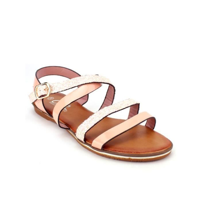 Sandales Rose Chaussures Femme, Cendriyon