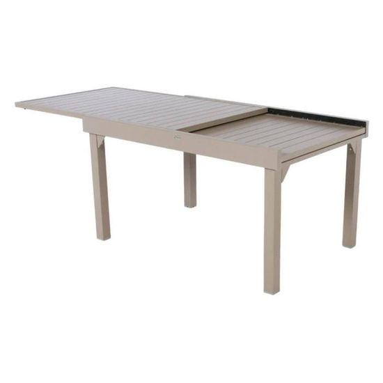 10 Table Achat Alu PTaupe Extensible Hesperide Piazza Vente N0nv8mw