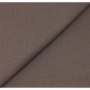 RIDEAU Tissu lin Lourd -(col taupe foncé )  280cm , au mè