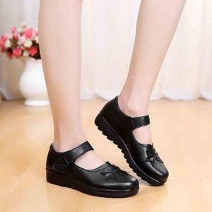SLIP-ON Chaussures à fond plat Moyen-Aged Mocassins en cui