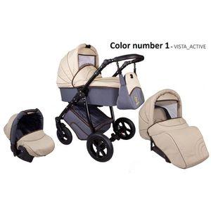 POUSSETTE  Poussette avec siège-auto 3en1 + accessoires & cad