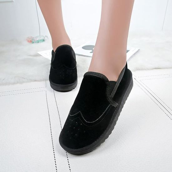 Plat Bottines En Gardez Hiver Chaussures Femme Oppapps11485 Coton Neige Chaud 08OXnwkP