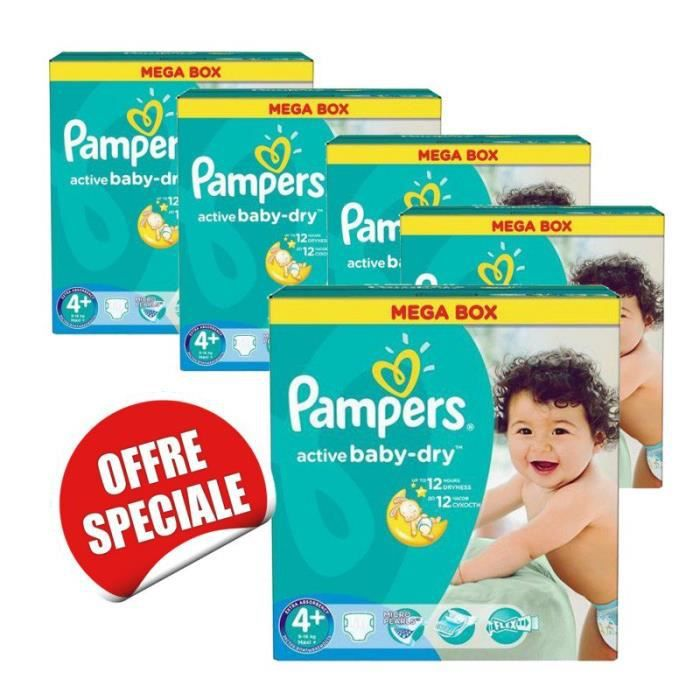 Maxi giga pack jumeaux de 742 Couches Pampers Active Baby Dry de ... f4dbf18db55