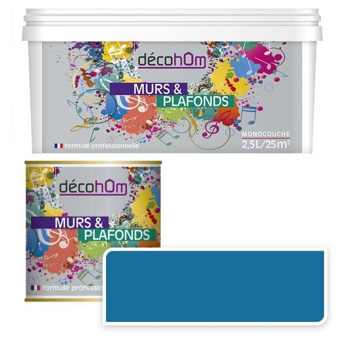 Peinturemurale Monocouche Couleur Bleu Pétrole 10 Litres