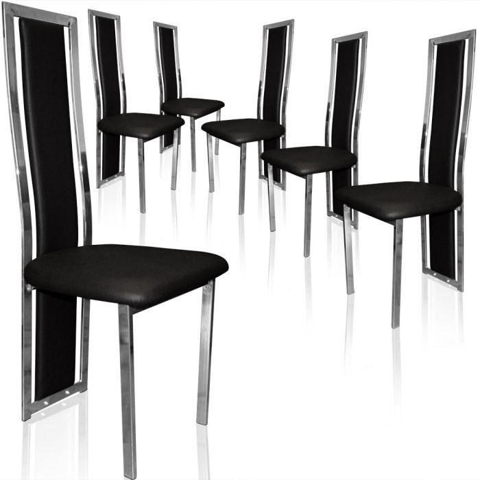 Lot De 6 Chaises Pure Noir