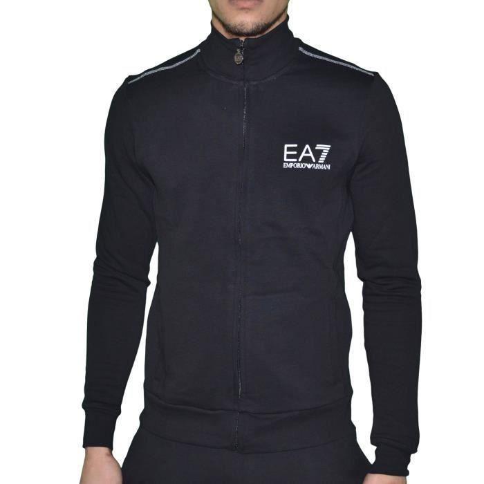 EA7 Emporio Armani, Gilet Zippé 276059 Noir Homme. NOIR - Achat ... 9d04f823c6d