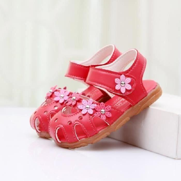 SHELOVEIT® Fleurs chaussures bébé fille sandales enfants R...