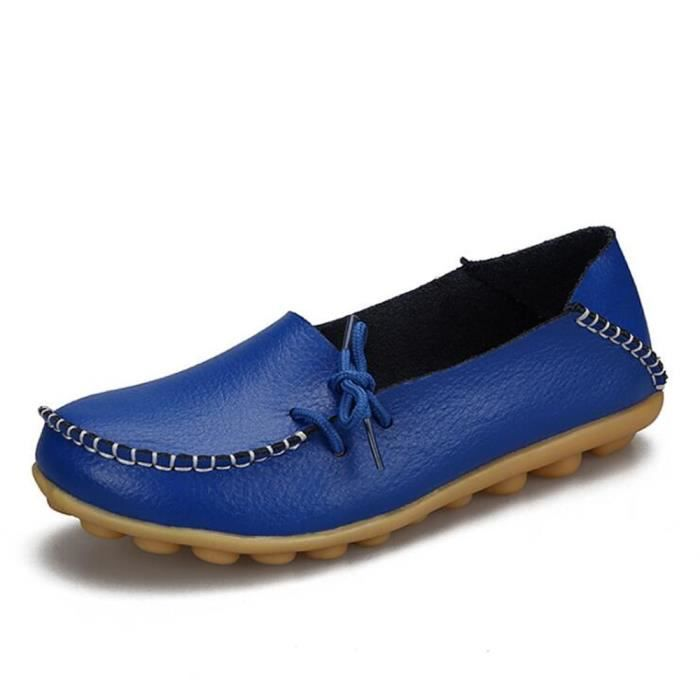 Loafer femmes Confortable Cuir perforé Nouvelle Mode Respirant Chaussure femmes Marque De Luxe Loafers cuir Grande Taille 2017 jeuoRiYDl