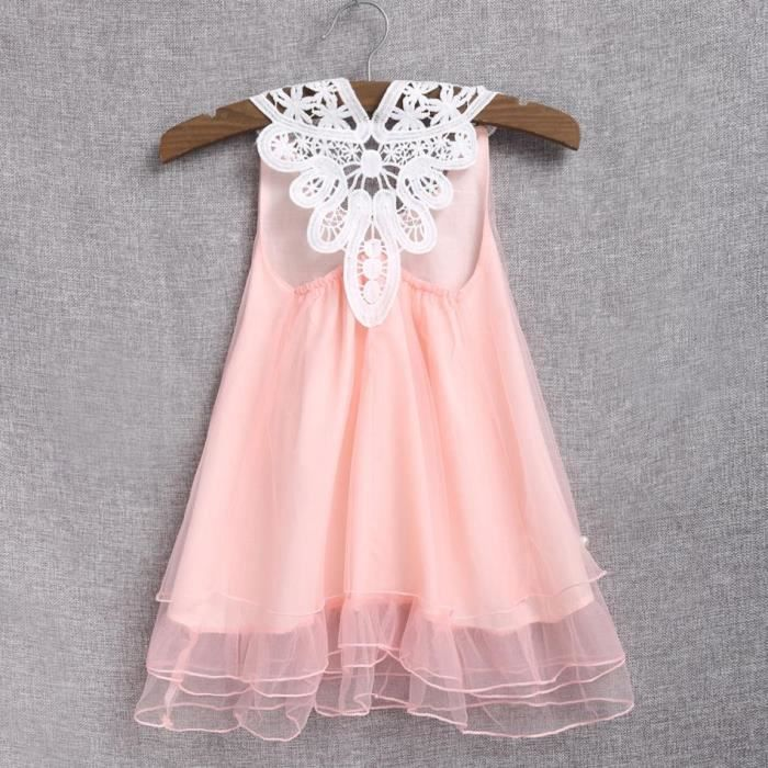 dc478f69f24 Robe Jumpsuit dentelle Robe maille fille enfants mignons couches robe
