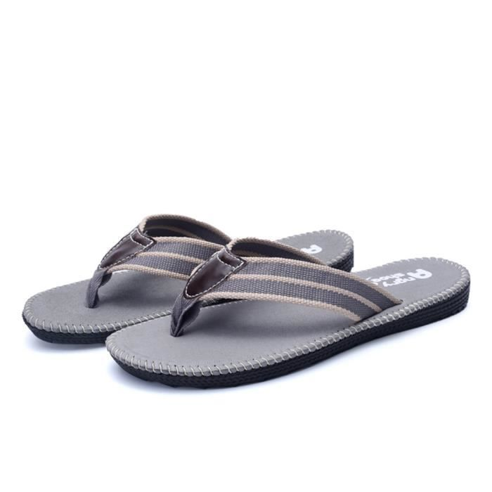 chaussure hommede luxe nouvelle marque Tongs tongs sandale homme Nouvelle Mode chaussures de plage Grande Taille 44 Kupvwhxu