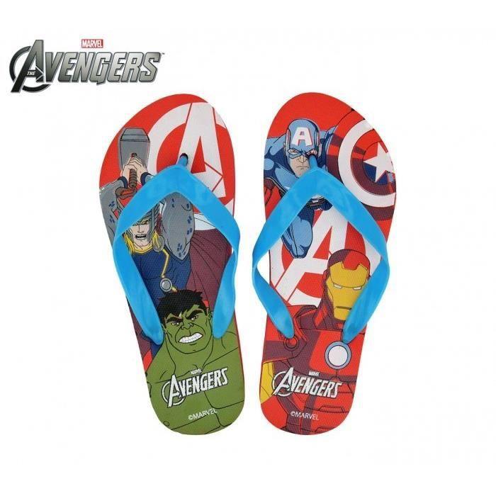 MW92268 - Tongs en plastique pour enfants - Avengers (Rouge - 29-30)