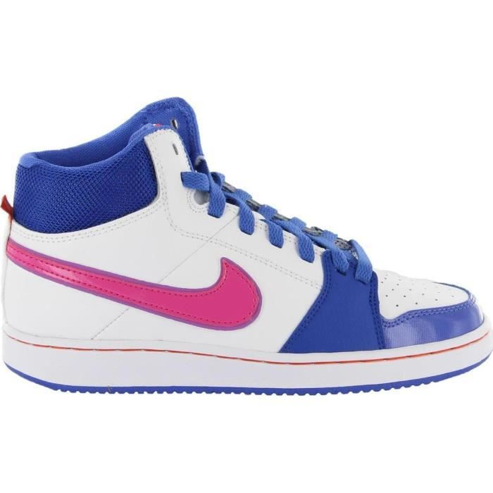 sale retailer 85e14 589a0 BASKET Baskets Nike Backboard 2 MID GS blanches. 488158-1
