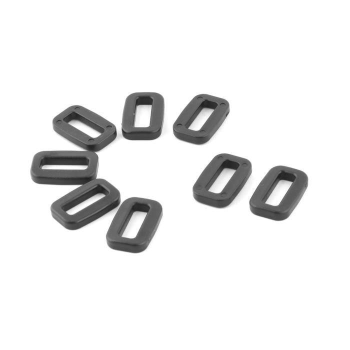 Ceinture sac Plastique Adjustive Tri Glide noir boucle coulissante 15mm  largeur 8pcs c0b82eb0851