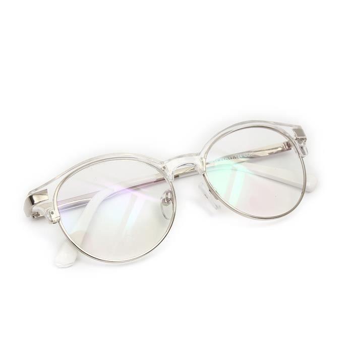 Montures lunettes transparentes