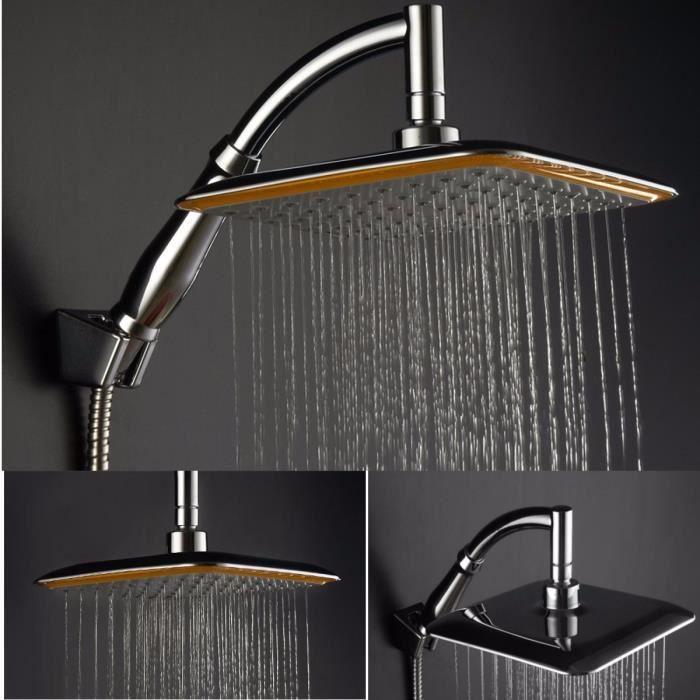 tempsa 9 pouces pommeau de douche carr pluie salle de bain achat vente douchette flexible. Black Bedroom Furniture Sets. Home Design Ideas
