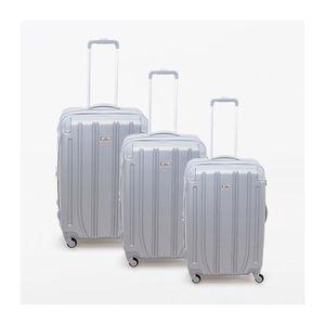 VALISE - BAGAGE Lot de 3 valises rigide 4 roues Horizon silver Met