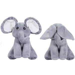PELUCHE peluche peek-a-boo éléphant, jeu de cache-cache bé