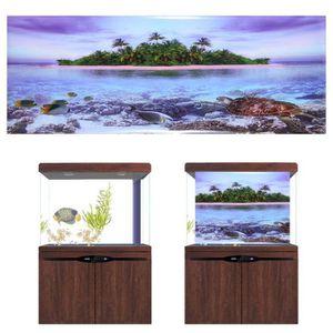 DÉCO ARTIFICIELLE Affiche de plage adhésive d'arbre de noix de coco