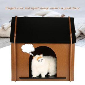 KIT HABITAT - COUCHAGE Maison en bois durable pliable pour animaux domest