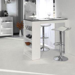 table haute de cuisine avec rangement cool bar table cuisine table cuisine bar mange table bar. Black Bedroom Furniture Sets. Home Design Ideas