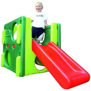 TOBOGGAN Toboggans Aire de jeux pour enfant verte Little Ti