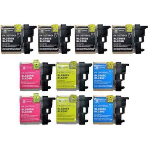 CARTOUCHE IMPRIMANTE Pack 10 cartouches compatible BROTHER LC985