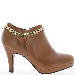 BOTTINE Bottines femme camel style riche...