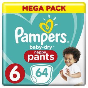 COUCHE Pampers Baby-Dry Pants Taille 6, 15+ kg, 64 Couche