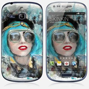 a69a6c27575ca Skin Samsung Galaxy S3 mini Design Lady gaga glasses - Achat sticker ...
