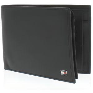Portefeuille vertical homme Tommy Hilfiger en cuir noir avec