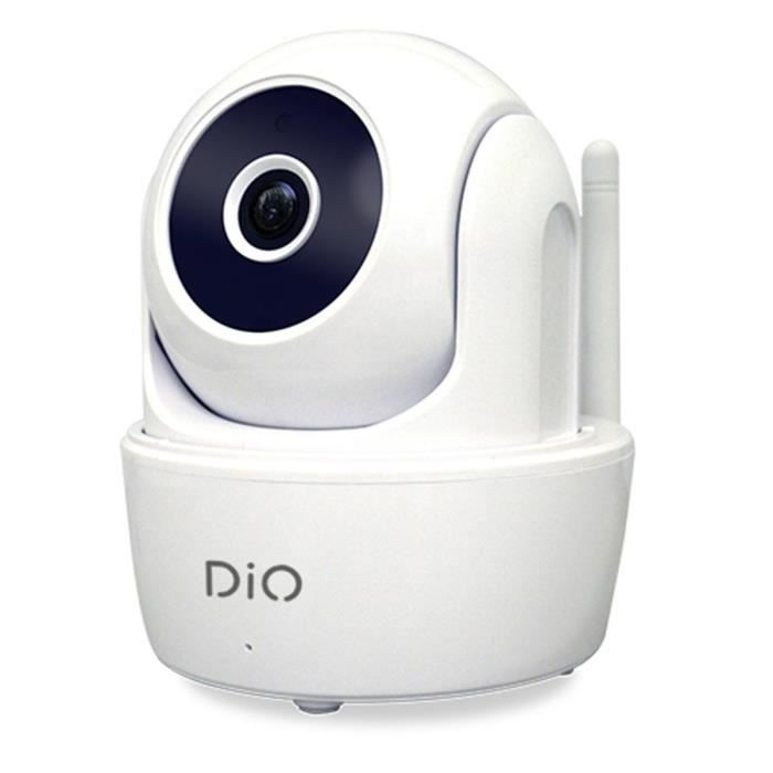 CHACON Dio Caméra de surveillance IP HD intérieure Wi-Fi rotative pilotable à distance