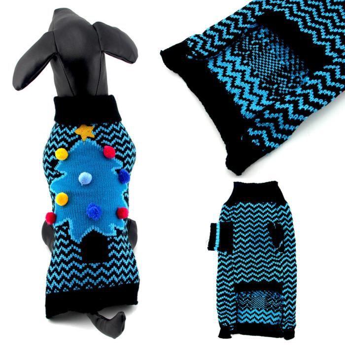 Laisser Refroidir Et Mignon D'arbre De Noël Sweater Vêtements Chien Chat Costume @balenced15699