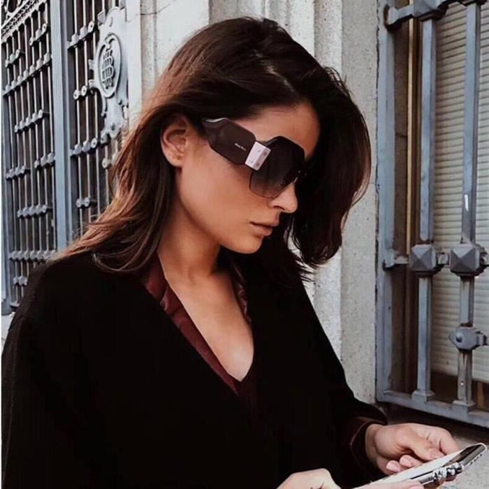 Deuxsuns®Femmes Vintage Lunettes de soleil Retro Big Frame UV400 Lunettes Fashion Ladies@zf174
