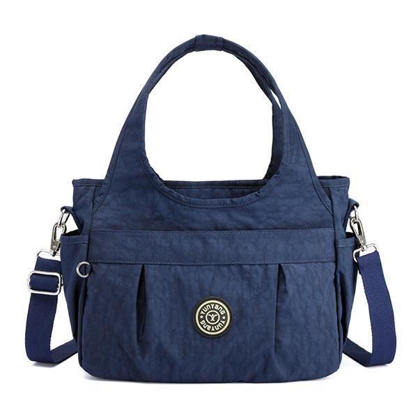 SBBKO1454WomenNylonSacàbandoulièreléger à sac à main résistant à leau pour femmes Bleu Foncé